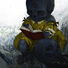 cloudferns: Child-corpse-thing, reading. (Childrens' Tales)