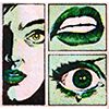 ninetydegrees: Drawing: a woman, afraid and crying, comic style (tear)