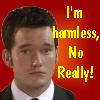 kendermaus: Ianto Jones from Torchwood - text reads, I'm harmless, really. (Ianto - Harmless)