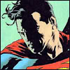 petra: Superman looking downward with a pensive expression (Clark - Beautiful night)