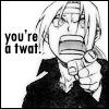 soberloki: (RAEG: You're a twat!)