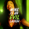 entwashian: jasmine laughing with text 'mine is an evil laugh' (jasmine laugh)