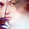 monanotlisa: Allison Argent's face w/ her bowstring in front of her, drawn. (allison argent - teen wolf)