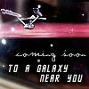 zellieh: Star Trek TOS Enterprise flying through a starfield. Text: Coming soon to a galaxy near you! (STTOS Enterprise coming soon)