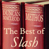 calime: Books with titles Duncan MacLeod and Methos, icon text the Best of Slash (books - best of slash)