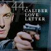 calime: Methos aiming a gun, text: 44. caliber love letter (44 caliber love letter)