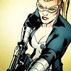 next_to_normal: Bobbi Morse in costume, with a big gun (Mockingbird)