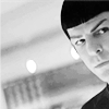 arethinn: black and white photo of Zach Quinto as Spock looking dubious (skeptical (new trek spock))