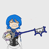 lockheart: aqua looking angry while holding her keyblade ([khbbs] i hate everything about you)