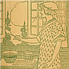fish_echo: 1917 line drawing of woman mixing batter in front of window  (Fandom-Bettina's--from front flyleaf)