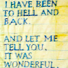 rising: I have been to hell and back // and let me tell you, it was wonderful (the cadre: hell and back)