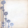 dungeonmarm: Blue illustrated flowers on an antique white background. (Default)
