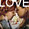 zellieh: Buffy's Willow & Tara leaning in to each other, foreheads touching, eyes closed. Text: LOVE (Buffy Willow/Tara: Love)