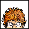 shanaqui: Drawn icon of me rolling my eyes up at my curly hair ((Me) Silly hair)