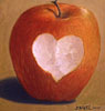 jenna_thorn: an apple with a heart shaped bite (apple)