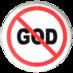 bzero: Anti-God button (atheism)
