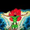 sandoz_iscariot: The superhero Phoenix rises triumphantly out of the water, hair billowing, arms outstretched (X-Men: Phoenix Rising)