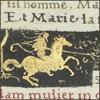 cloudsinvenice: Medieval art: illuminated manuscript with a knight in gold leaf (semyaza illuminated)