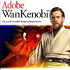 "arethinn: Obi-Wan Kenobi on the cover of a mock Adobe product box, text ""Adobe Wan Kenobi"" (random (adobe wan kenobi))"