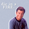 "arethinn: Doctor McCoy with text ""die in a fire"" (angry (mccoy DIAF))"