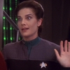 carnivorousgiraffe: Jadzia Dax from DS9 looking sarcastically surprised. (Got a badass over here.)