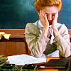 tree_and_leaf: Anne Shirley sitting at desk, head in hands (essay crisis)