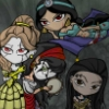faerie_dreamer: the disney princesses as dark, chibi characters (characters)