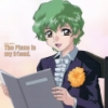 etienneofthewestwind: Promo cell of Gundam Seed's Nicol Amalfi in tux with music folder and caption 'The piano is my friend'. (nicolpianofriend)