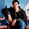 etienneofthewestwind: Miscellaneous picture of Thomas Gibson sitting on hood of red car. (hotchcasualcar)