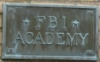etienneofthewestwind: FBI academy plaque on tan brick wall. (FBIacad)