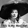 musyc: Katherine Hepburn wearing a great big hat (B/W: Mod Hat)