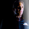 muccamukk: Jeff standing in the dark, face half shadowed. (B5: All Alone in the Night)