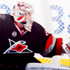 hockeyficrecs: picture of cam ward, goalie for the carolina hurricanes, making a glove save. (Default)