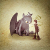 thisissirius: toothless loves hiccup (httad + toothless&hiccup + bff)