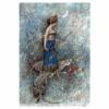 halialkers: Side view of a woman in blue robes, Zenobia of Palmyra (Zenobia Chaliel)
