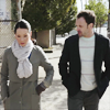 starlady: Holmes and Watson walking around New York (springtime in new york)