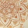 soukup: flower-ish mandala doodle (orange doodle)