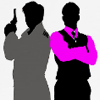 milady_dragon: Jack and Ianto Silhouette (Jack and Ianto Silhouette)