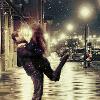 scintilla10: hug by the snowy light of the street lamps (Stock - joyful hug)