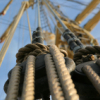 kaifu: looking up along the rigging of a tall ship (rigging)