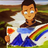 deird1: Sokka, with the picture he painted (Sokka picture)