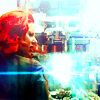 sweetestdrain: Black Widow on the roof of Stark Tower, light from energy weapon. (Default)