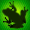 treefrog: treefrog silhouetted through a leaf (Default)