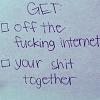 erika: (words: to-do list / internet)