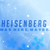 erika: Text: Heisenberg was here.  Maybe. (science: heisenburg--maybe)