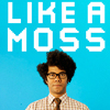 capn_mactastic: Picture of Moss from IT Crowd; text reads: Like A Moss (Like A Moss)