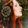 nuri: Redhead with headpiece in hair (Headpiece)