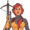 sharpest_asp: Scarlett with crossbow in air, face on (G I Joe: Scarlett)