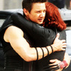 bluflamingo: Black Widow and Hawkeye hugging (Black widow/Hawkeye hug)