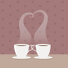 redsnake05: Two tea cups making steam that forms a heart (Affection: Love tea)